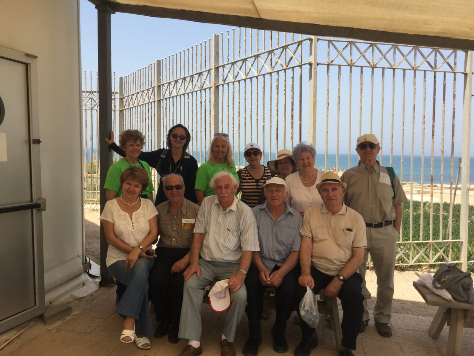 Trip w Holocaust survivors and volunteers