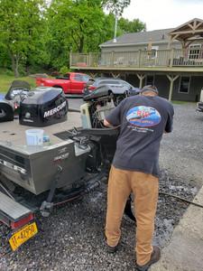 Tracker Bass Fishin Boat Engine Repair