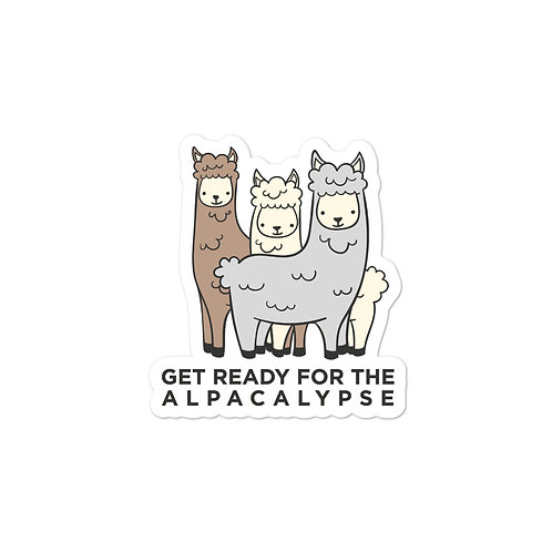 Get Ready for the Alpacalypse Bubble-free stickers