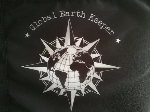 Drapeau Global Earth Kepper noir