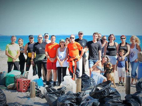 L'Opération Nettoyage de la plage de Porto Novo