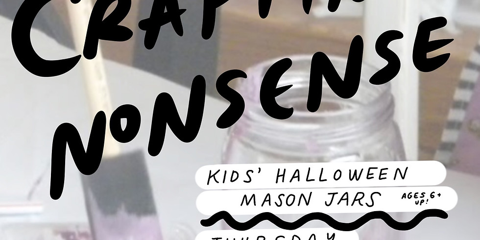 Crafting Nonsense: Kids' Halloween Mason Jars
