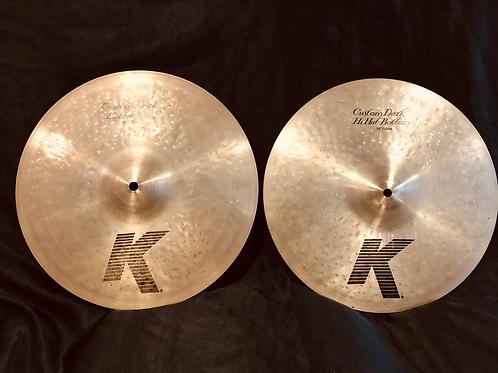 """Zildjian K Custom 14"""" Dark Hi-Hats Regular Finish"""