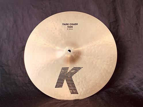 "Zildjian K 15"" Dark Thin Crash"