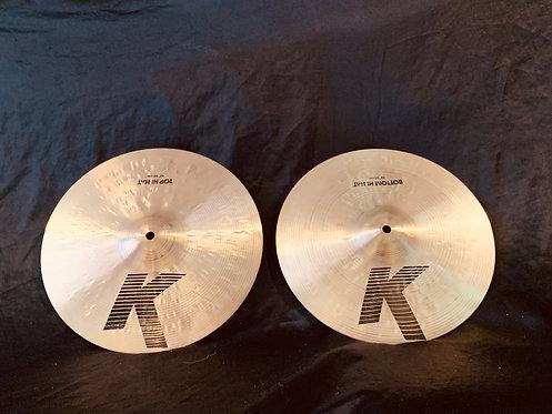 "Zildjian K 13"" Hi-Hats Regular Finish"