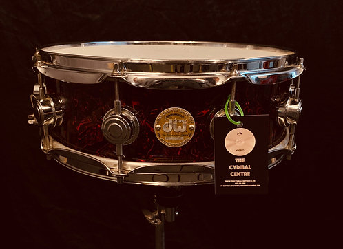 DW Collectors Maple 14 x 5 Red Swirl