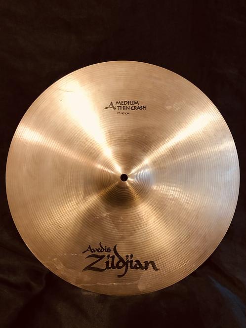 """Zildjian Avedis 17"""" Medium Thin Crash  Regular Finish"""