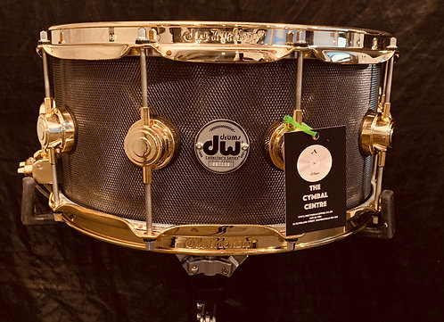 DW Knurled Black Nickel Over Steel 14 x 8 With 24k Gold Hardware