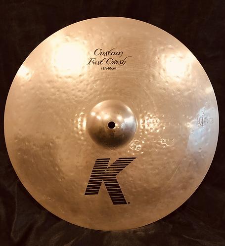 """Zildjian K Custom 16"""" Fast Crash Brilliant Finish"""