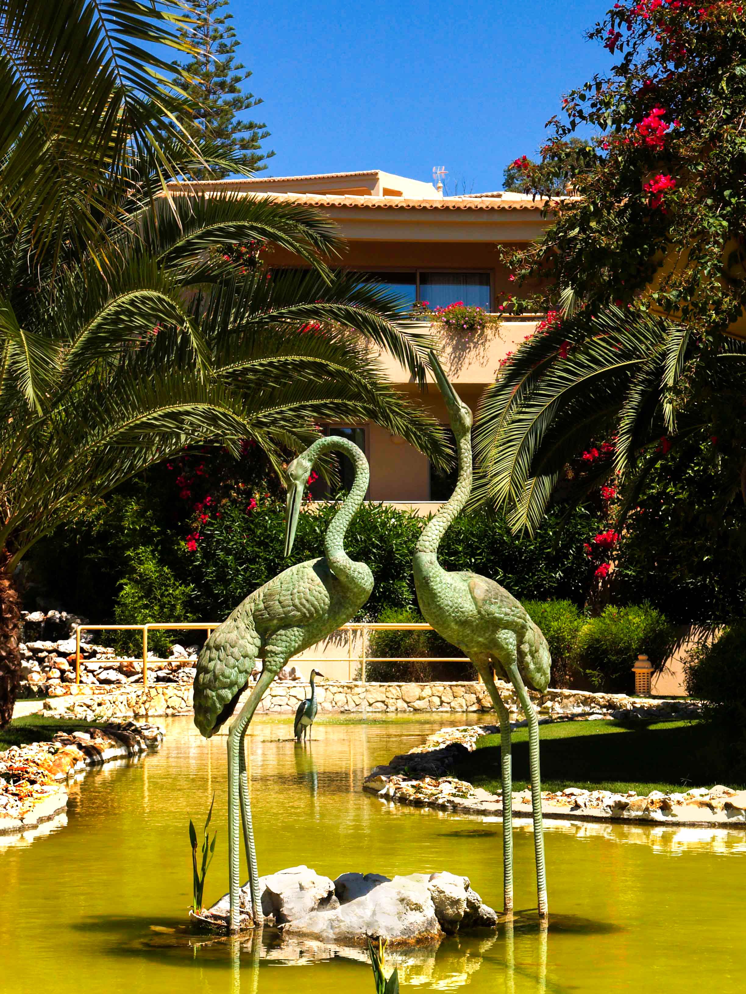 Tropical gardens & waterfalls