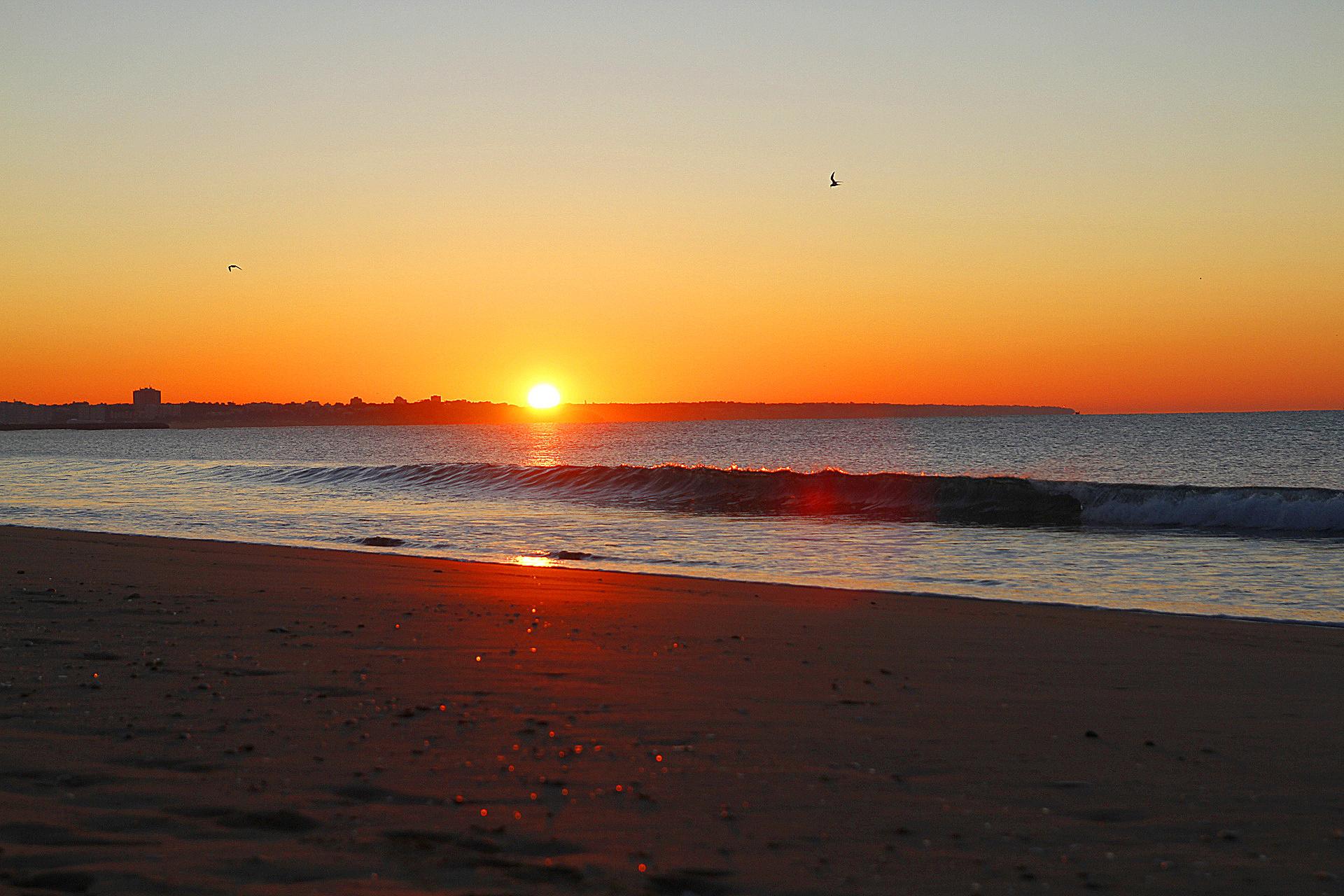 Sonnenaufgang über Portimão