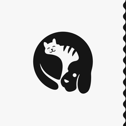 Cat & Dog Negative Space