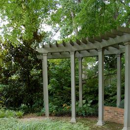 Flagstone w/ Garden and Trellis