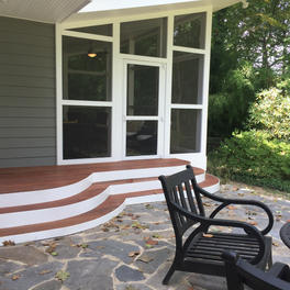 Curved Steps with Patio