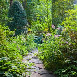 Flagstone Path w/ Garden