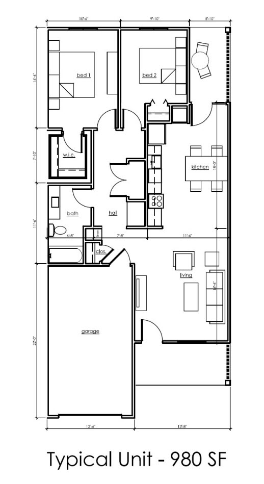 Independent Living Villa Floor Plan