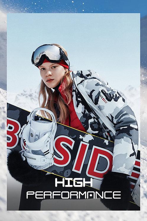 【滑雪系列】女款灰白迷彩时尚修身B00142104