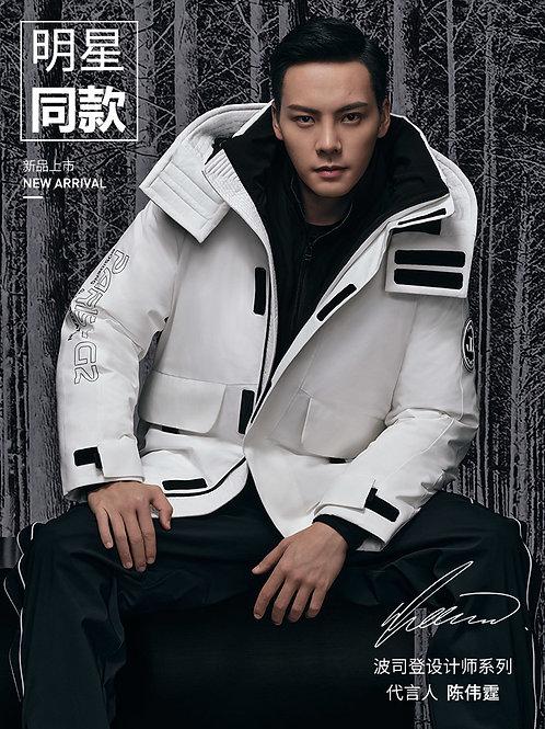 【陈伟霆同款】波司登2020新款中长工装羽绒服潮流外套B00143410
