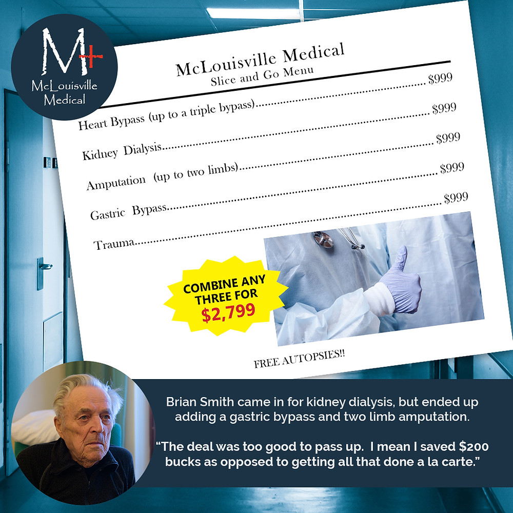 "McLouisville Medical ""Slice and Go"" Menu"