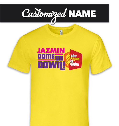 3199937c Price Is Right TShirt, Add your Custom Name to this tshirt! Get ready to  Come on Down & be the next contestant on THE PRICE IS RIGHT!