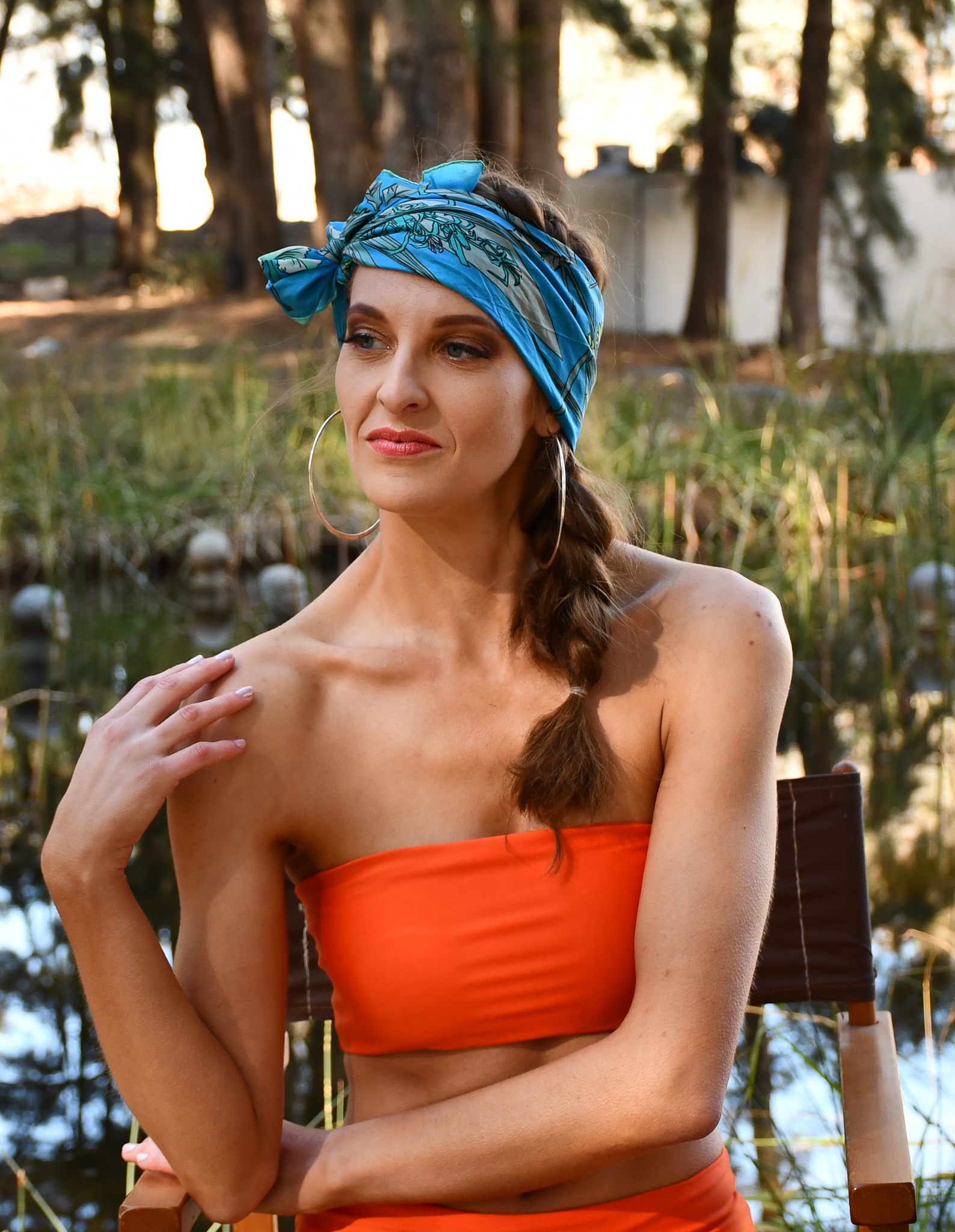 Band Tan Bikini with headscarf