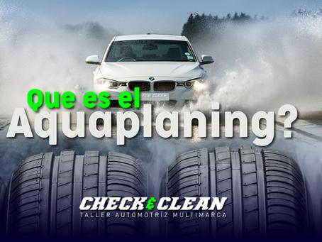 ¿Qué es el aquaplaning?