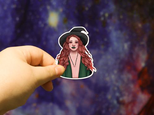 Forest Witch Halloween Sticker