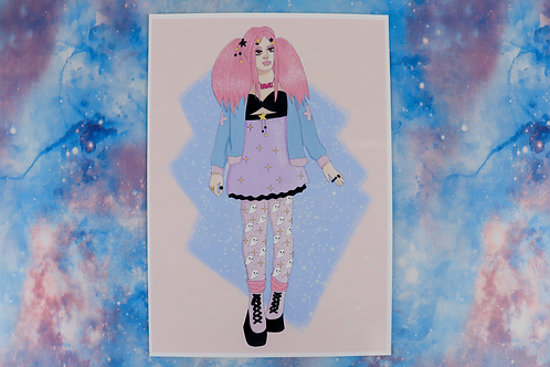 Kawaii Girl Print