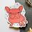 Thumbnail: Pink/Red Yoyo the French Bulldog Frenchie Matt Sticker