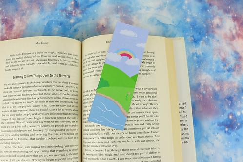 Kawaii Spring Scene Bookmark