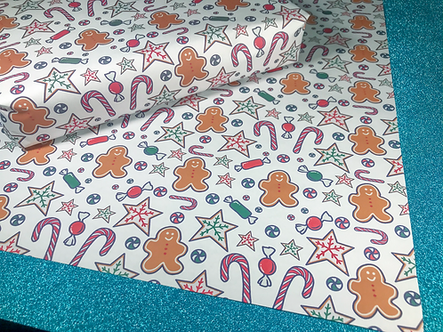 Gingerbread Sweets Christmas Wrapping Paper