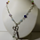 Thumbnail: Crystal Plastic Beaded Scissors Pendant Necklace Multicoloured