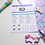 Thumbnail: Moon and Stars plus Days Planner Sticker Sheet