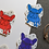 Thumbnail: 5x Multicoloured Yoyo the French Bulldog Frenchie Matt Stickers