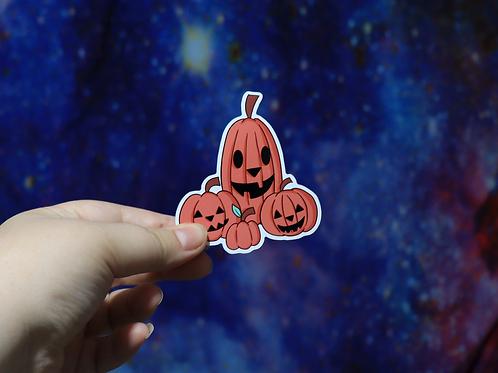 Pumpkin Jack-o-lantern Sticker