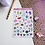 Thumbnail: Food Sticker Sheet and Stuff for Planners Cute Food Animals Stars