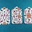 Thumbnail: Set of 3 Gingerbread Sweets Christmas Gift Tags