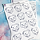 Thumbnail: SECONDS Colour Your Own Staffy Planner Sticker Sheet