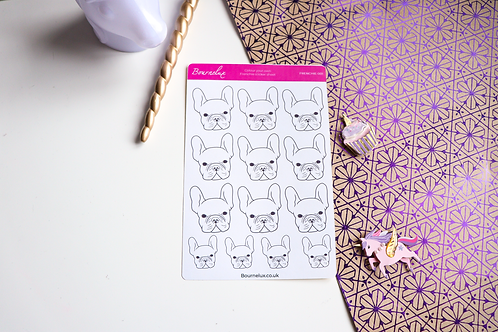Colour Your Own French Bulldog Sticker Sheet