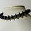 Thumbnail: Gunmetal Black Metal Disk and Beaded Bracelet