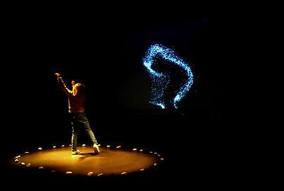 reflet, art numerique, interactif, debussy,musique