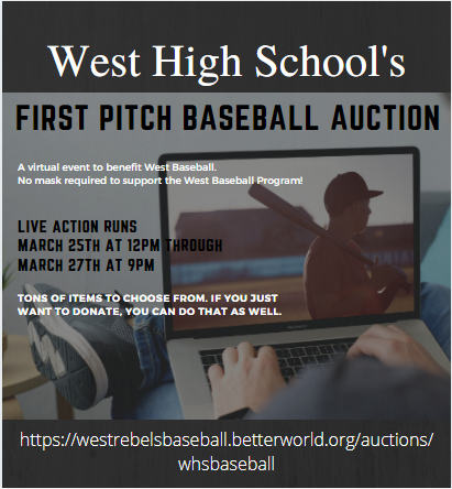 West Baseball First Pitch Auction