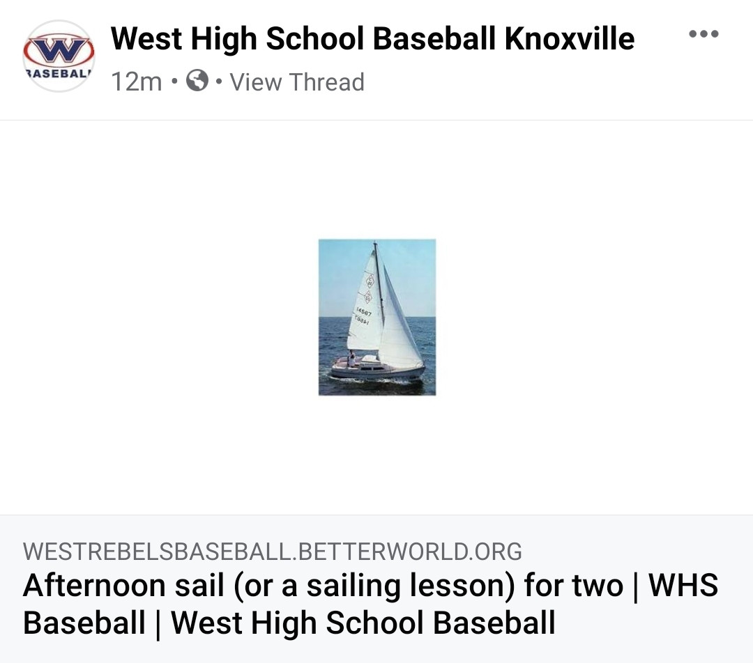 West High Baseball Autction Item