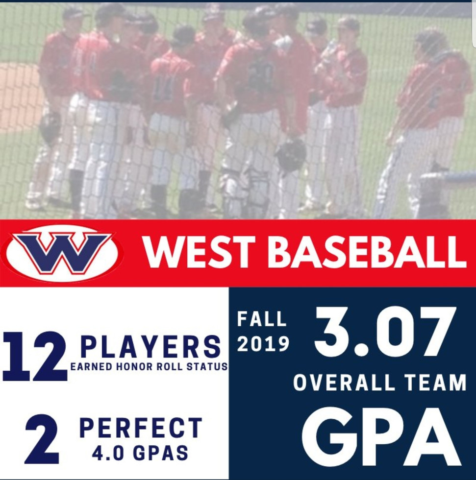West Baseball Academic Excellence