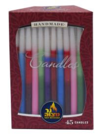 Lined Chanukah Candles 28310
