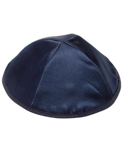 Blue Satin Kippa