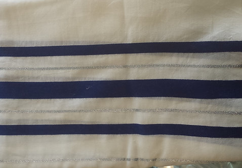 Tallis - Prayer Shawl Blue/White & Silver