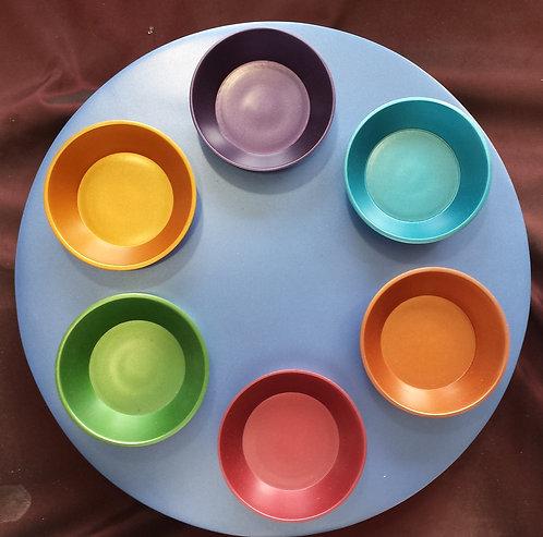 Emmanuel Aluminium Colour Seder Plate