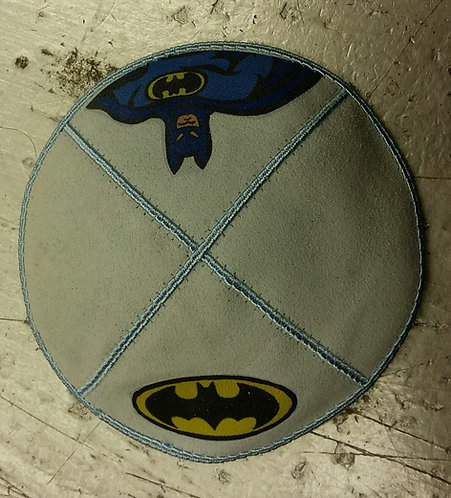 Batman Suede Blue Kippa