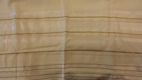 Tallis - Prayer Shawl White/Gold
